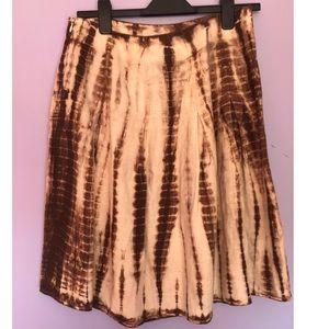 Michael Kors Women's Linen Tie Dye A Line Skirt